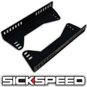 SIDE MOUNT STEEL SEAT BRACKETS FOR RACING SEATS 90 DEGREE ADJUSTABLE P5 BLACK