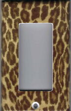 Leopard Skin Home Wall Decor Gfi Outlet - Rocker Light Switch Plate Cover