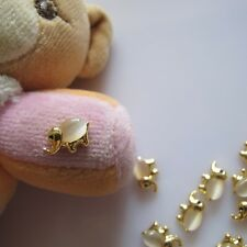10pcs Crystal Rhinestone Gold Elephant Metal Deco Charms Nail Art MD-408
