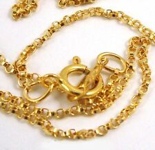 "20"" 1.1mm 14k yellow gold filled Rollo chain necklace made in USA w/spring clasp"