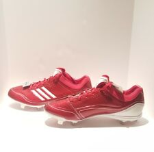 Adidas Men Adizero Diamond King Baseball Cleats Low Size 13 Red