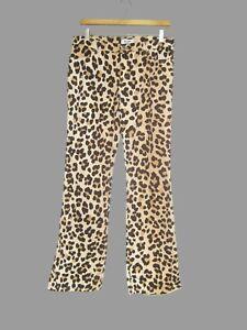 Vintage 90/'s Faux Brown Snake Skin Print Mid Rise Pants free shipping