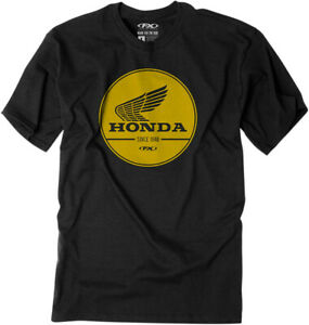 Factory Effex Licensed Honda Gold Label Black Adult T-Shirt All Sizes