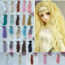 15cm Doll Wig High-temperature Wire for DIY 1/3 1/4 Clear BJD SD Curly Hair Girl
