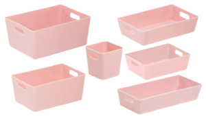 6 x Personalised Pink Home Storage Boxes Box Cleaning Caddy Mrs Hinch Zoflora