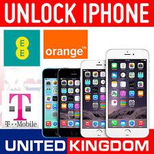 IPhone Apple 6S 6 5S 6S + 5c 5 FACTORY CODICE DI SBLOCCO SERVIZIO EE Arancione T-Mobile UK