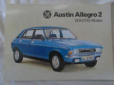 Austin Allegro 2 1500 & 1700 range brochure Aug 1976 ref 3162/B
