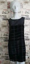 BRUUNS BAZAAR Woman's Silk Velvet Checked Print Shift Dress Size 38 EU 12 UK