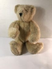 """Vermont Teddy Bear Co.,Jointed 13"""" Plush Bear, Oatmeal Sherpa color, 1995"""