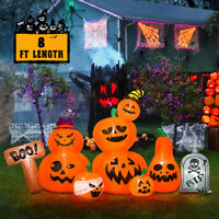 8 Foot Halloween Inflatable Party Blowup Yard Decoration Tombstone Pumpkin Patch