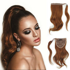 Short Wavy Wrap Around Ponytail 100% Remy Clip In Human Hair Extension 8-12Inch