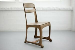 Vintage Mid Century Modern Childs Gold Metal Wood Chair - USA Made By Envoy