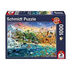Schmidt Puzzle il Mondo Degli Animali, 1000 Pezzi, 58324 (A7I)