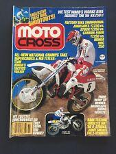 MOTOCROSS magazine-NOV 1985-WARDS KX250-HUSKY 500MX-SHOWA-ROSE BOWL-JOHNNY' O