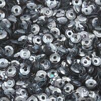 1200 Pailletten 4mm Silber Grau Gewölbt im Blister Kleidung Schmuck BEST PAI19