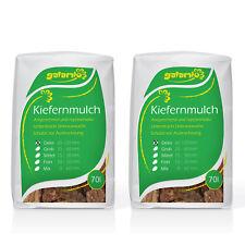 Rindenmulch Mulch 100% Kiefer Borke Rinde Garten Deko 60-120mm 70l x 2 Sack 140l