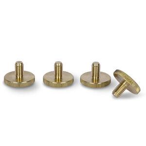 PrecisionGeek Large 20mm Head - Brass Knurled Thumb Screws M6 x 10mm - 4pcs