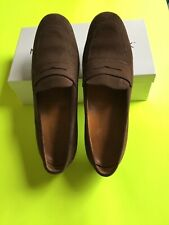 910dc508aee TODS Womens Loafers Shoes Brown Suede Leather Size 10 Casual Made in Italy