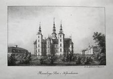 KOPENHAGEN København Rosenborg DANMARK. Orig. Lithographie 1840