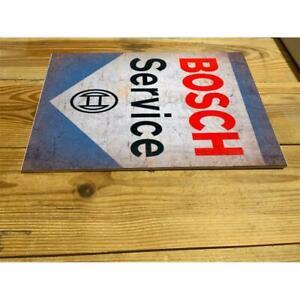 BOSCH SERVICE RETRO GARAGE  ENAMEL / CERAMIC WALL SIGN PLAQUE
