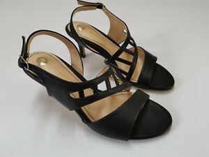 CLARICE BLACK PU KALINA HIGH HEEL PUMP SHOES SIZE 5 NEW IN BOX