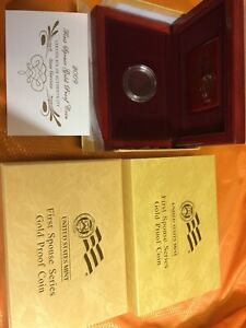 2009-W Proof $10 Gold Anna Harrison First Spouse BOX OGP and COA (X-30) NO Coins