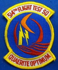 U.S. AIR FORCE 514TH FLIGHT TEST SQUADRON PATCH - #USP1700