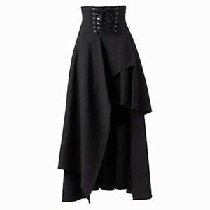 Black Women Steampunk Vintage Rock Clothing Party Lolita Skirt Gypsy Hipp BS Bla