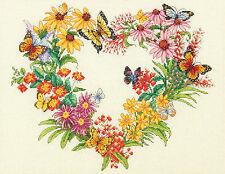 Cross Stitch Kit ~ Dimensions Wildflower Wreath & Butterflies #70-35336