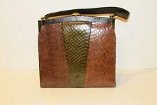Vintage Snake or Lizard Skin Handbag Purse Beautiful Colors & Fabulous Condition