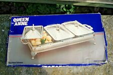 Queen Anne Silver Plated  3 section Casserole  Server . New. Boxed