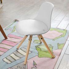 SoBuy® Kids Children Chair Stool Padded Seat, PP/PU Leather, White,FST46-W,UK
