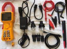 Fluke 345 Power Quality Clamp Meter And Probe Light In Soft Case Light Use
