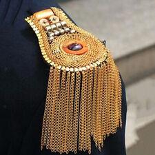 Epaulette Costume Jewelry Punk Accessories Men Shoulder Brooch Emblem Badges