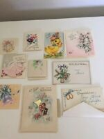 Vintage Wedding  Gift Cards 1950s LOT OF 10 + envelopes Small Mini