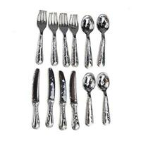 12PCS Set 1:12dollhouse Doll House Simulation Model Metal Tableware Decoration