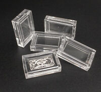 30 x 1 Gram Fine Silver Bullion Gold Bar bullion Holders Cases capsules airtight