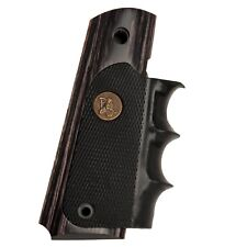Pachmayr American legend Wood & Rubber Countoured grips for Colt 1911 Charcoal