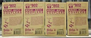 4 - Packs of S Scale - KADEE 802 Plastic Couplers with Draft Gear Boxes - Black