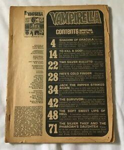 1972 Sept Special Issue Vampirella Magazine #19 Missing Cover Warren DEC #9