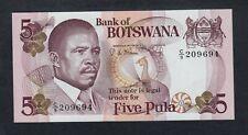 BOTSWANA  5 PULA ( 1982 )   PICK # 8b UNC.