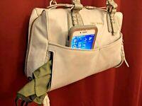 Women's COLE HAAN Leather Handbag / Shoulder Bag / Crossbody - Gray - $349 msrp