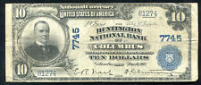1902 $10 The Huntington Nb Of Columbus, Oh National Currency Ch. #7745