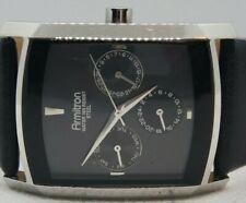 Armitron Mens Vintage WR  Quartz movement Black Dial & leather watch