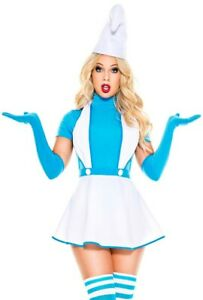 Clearance Music legs womens adult blue smurf skirt costume 70887 M/L
