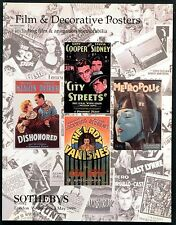 FILM AND DECORATIVE POSTERS 1999 METROPOLIS LADY VANISHES UK AUCTION CATALOGUE