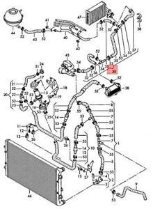 Genuine AUDI TT Coupe Roadster TTS 8N Coolant Hose 8N0121073B