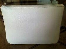 White Cosmetics Make Up Bag.  Black Lining -  Pretty and Brand New -