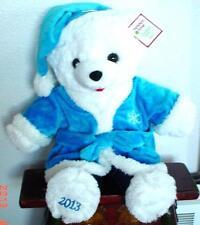 "2013 WalMART CHRISTMAS Snowflake TEDDY BEAR White a Boy 20"" Blue outfit NWT."