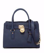 Michael Kors Hamilton Navy Blue Saffiano Leather East West Medium Satchel Bag